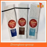 Chinese supplier kraft paper bag with ziplock for coffee packing