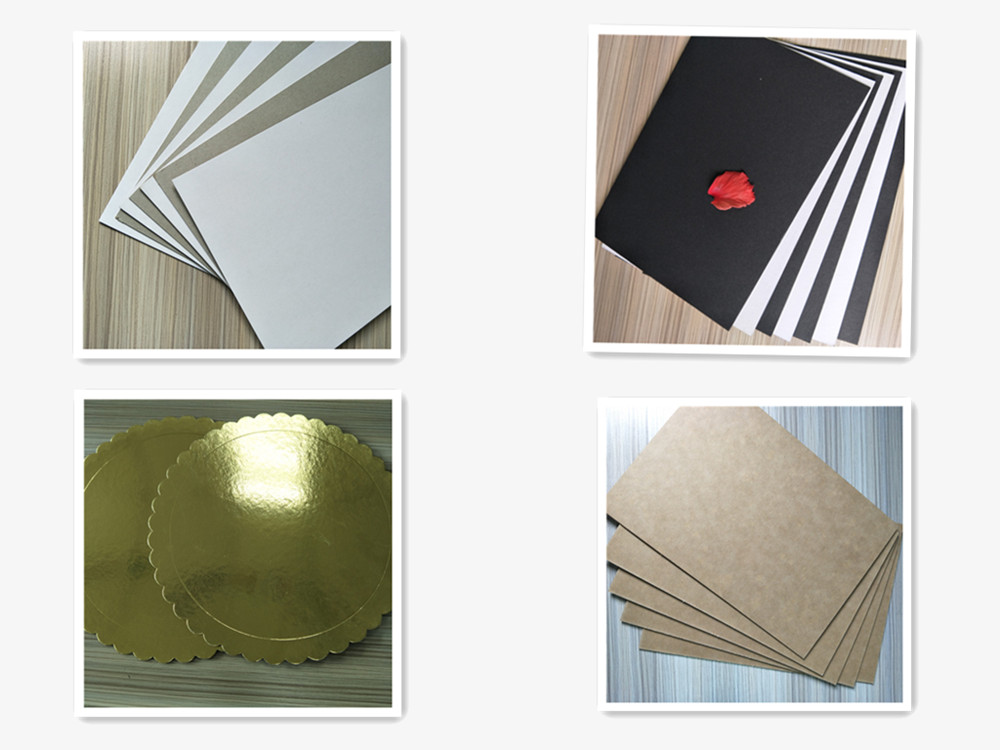 Cheap paperboard round shape gold/silver foil cake boards