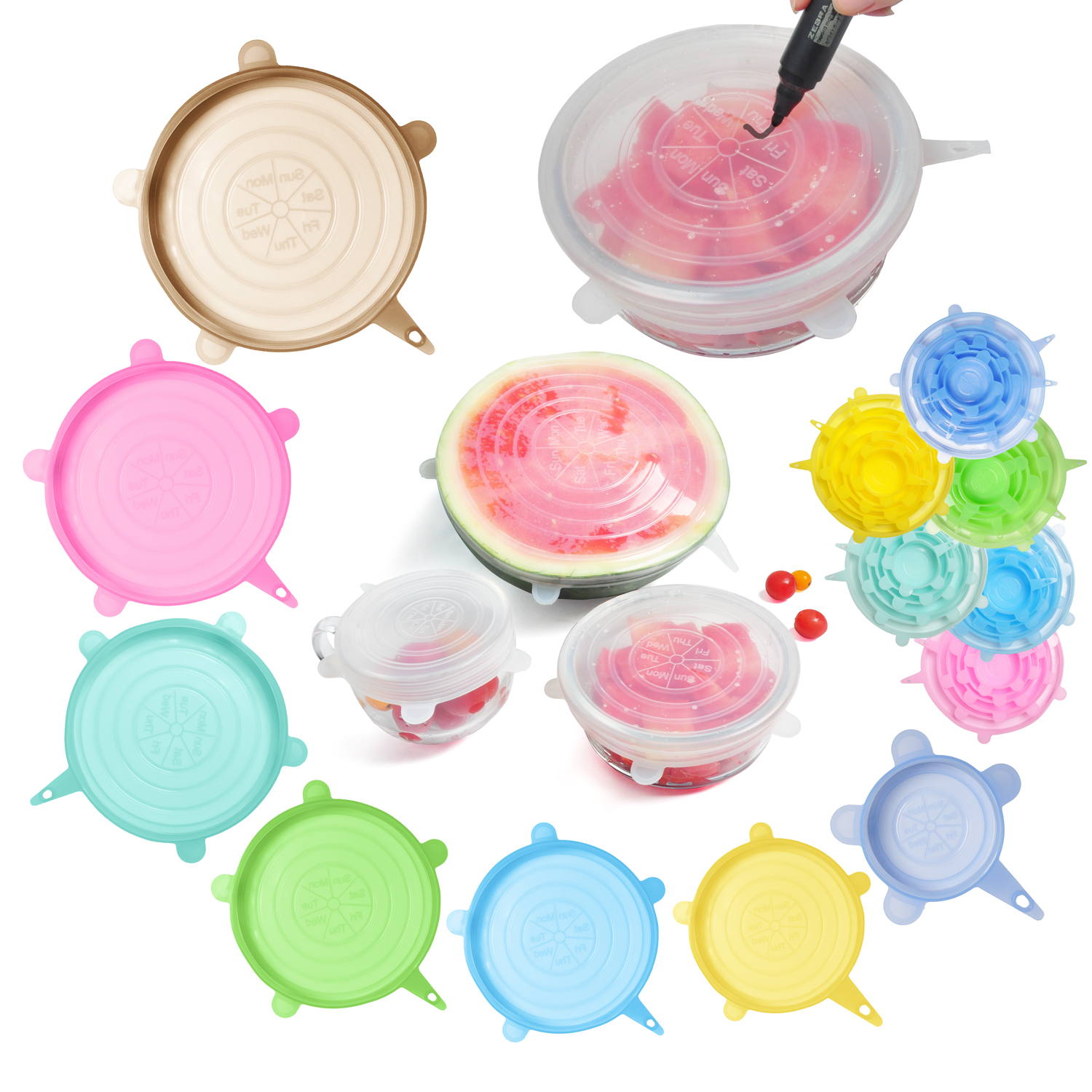 Food grade silicone lid seal silicone stretch lids silicone storage lids