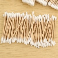 Hot sale sterile wooden cotton swabs face cream applicator cotton swabs cotton tip applicator