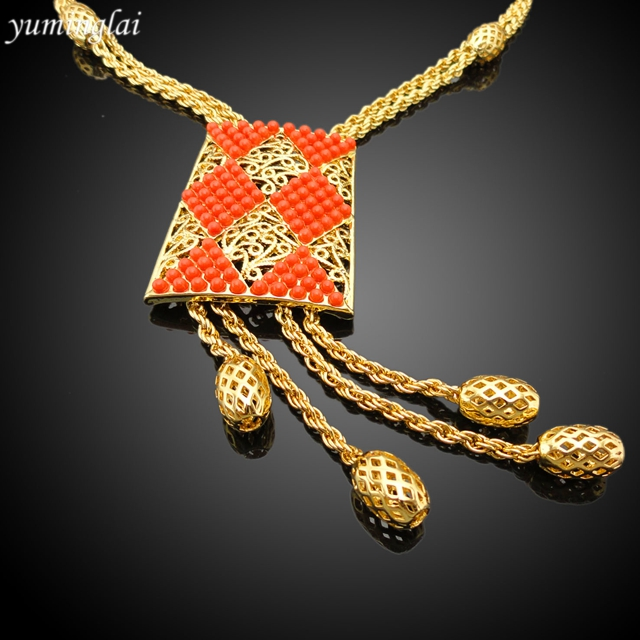 2016 New Arrival African Gold Plated Jewelry set which for Wedding jewelry set Match Clothes EHK534