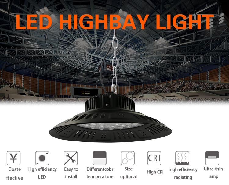 Zhongshan industrial explosion-proof decorative 200w led ufo highbay light