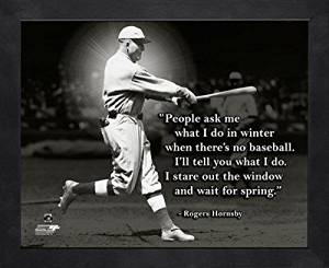 St. Louis Cardinals Rogers Hornsby 8x10 Pro Quote