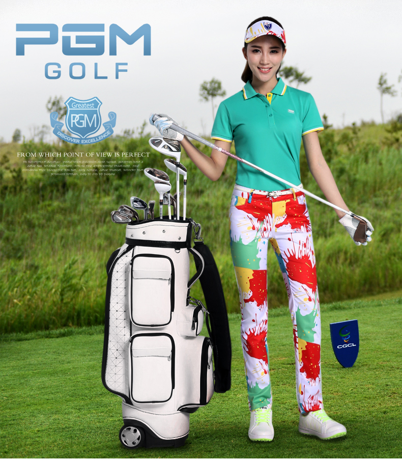 2017 New model colorful golf trousers
