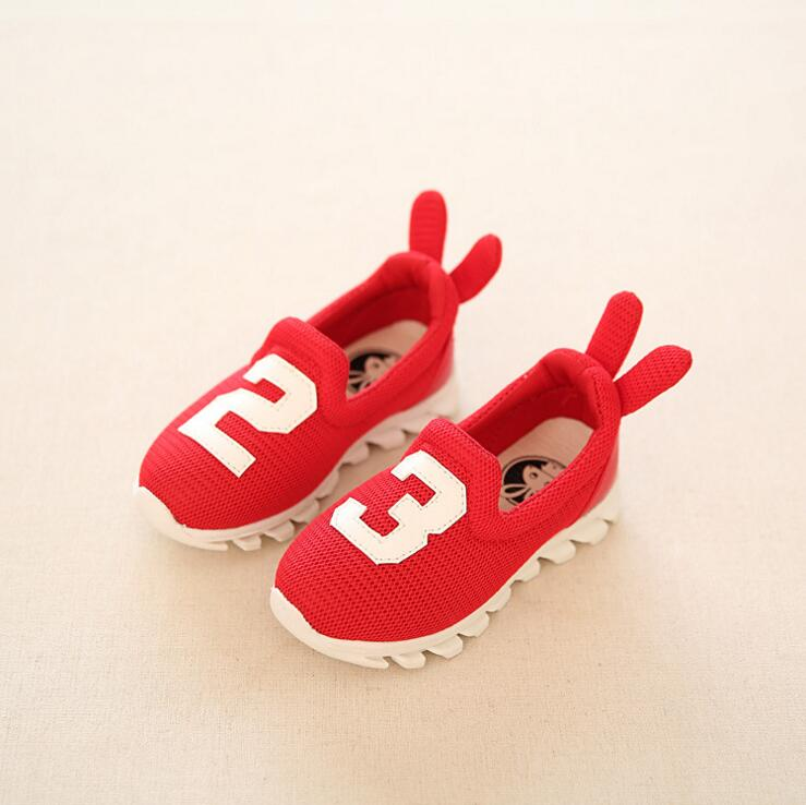 Children Boys And Girls Shoes Casual Sneakers Soft Bottom Kids Shoes Sneakers Black Red Green Size