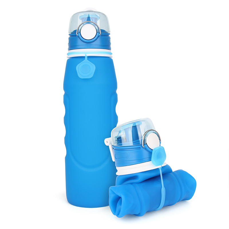 Free <strong>Sample</strong> New Arrival 1 L BPA Free Travel Silicone Collapsible Water Bottle