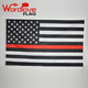 Supply cheap bulk stock custom the thin red line USA police flag,American firefighter flag