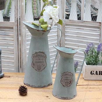 225 & Rustic Style Garden Decor Metal Flower Vase Decorative Tin Water Pitcher - Buy Metal Flower JugDecorative Metal Flower PotAntique Water Jug Product ...