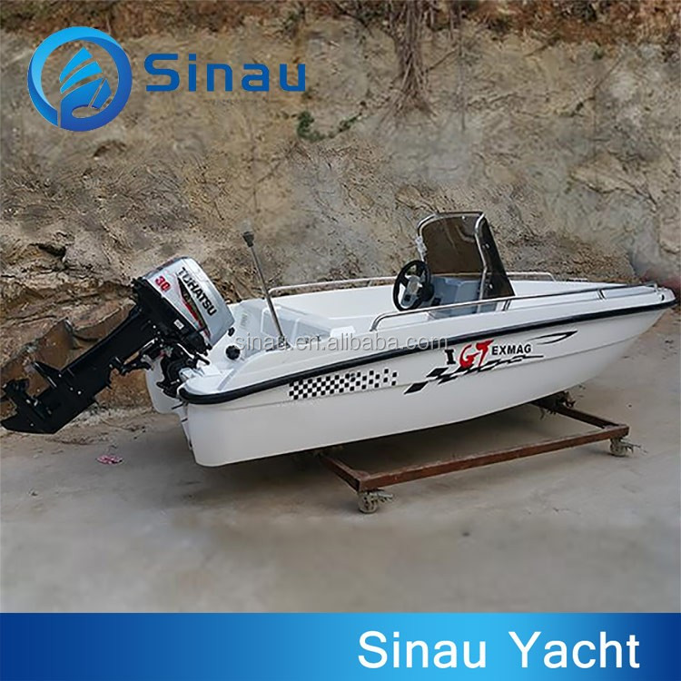 Ce certification fiberglass fishing boat center for Small fishing boats with motor