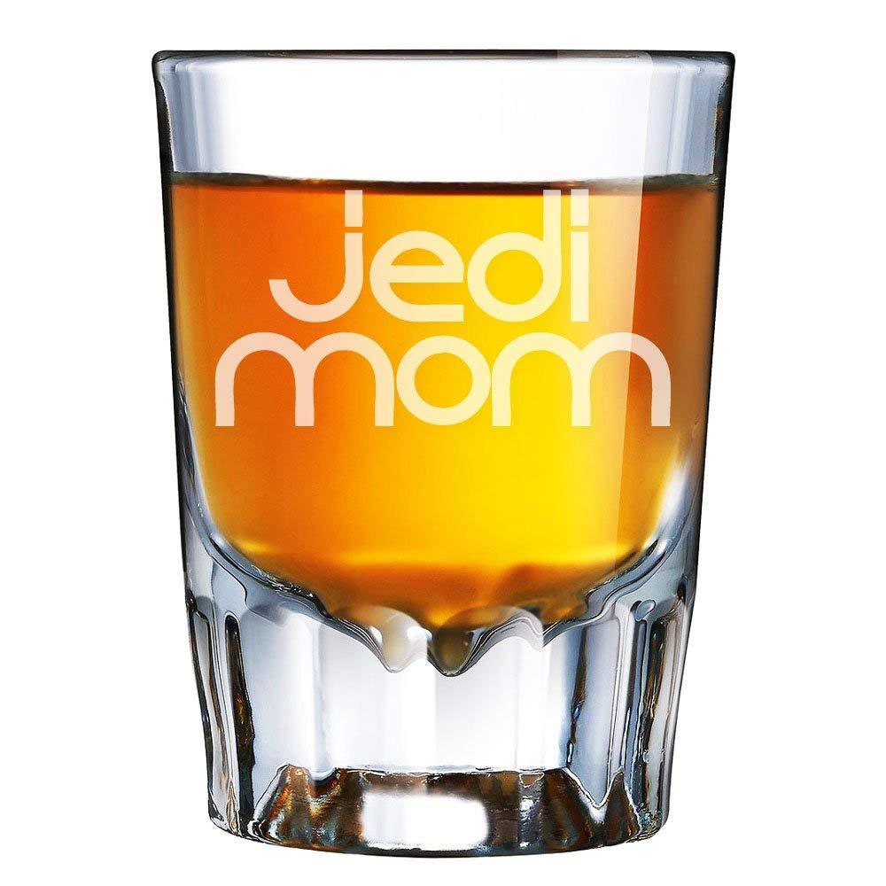 Jedi Mom Engraved Barcraft Fluted Shot Glass
