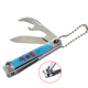 Korea nail clipper with opener and knife ,India nail clipper