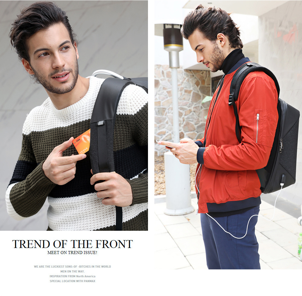 [Arctic Hunter]small backpack men outdoor sports USB  charging women school Anti theft laptop smart waterproof cool backpack bag