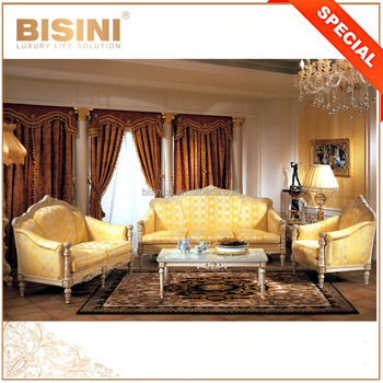 European Royal Golden Luxury Furniture Living Room Sofa Set, Brand Classic  Hand Painted Sectional Sofa. View Larger Image