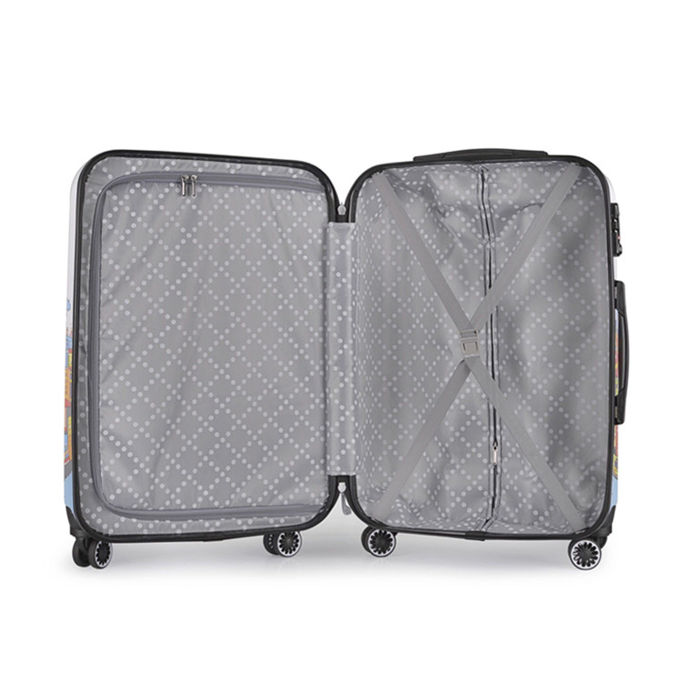 Unique pattern 20 inch printed luggage bag travel abs pc trolley luggage