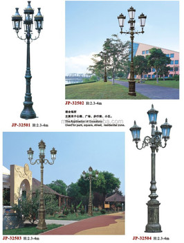 Outdoor Led Cast Iron Decorative Garden Light Pole