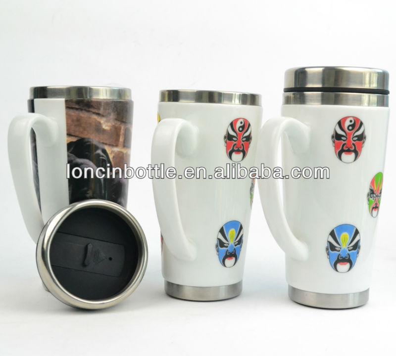 insulated stainless steel ceramic travel mug stainless steel