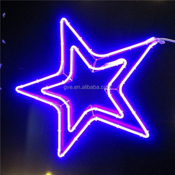 Five pointed star color changing christmas outdoor decorative neon five pointed star color changing christmas outdoor decorative neon rope light aloadofball Images