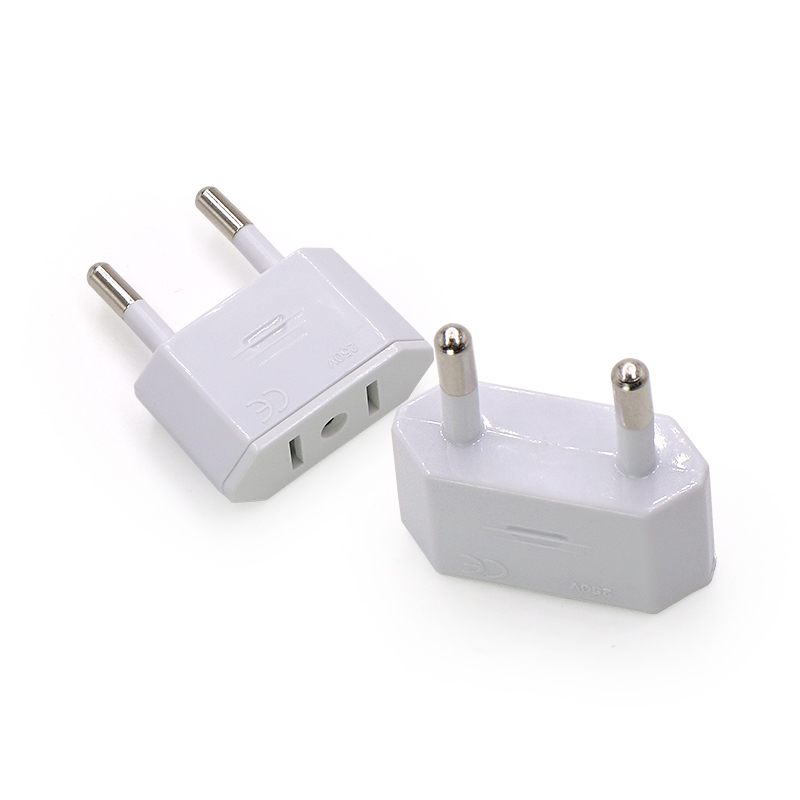 US USA to EU Euro Europe AC Power Plug Converter Travel Adapter Charger