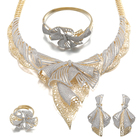 아프리카 Jewelry Sets Woman Luxury 웨딩 금 Plated Jewelry Sets 대 한 Woman