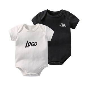 Factory custom organic cotton baby clothes plain baby romper