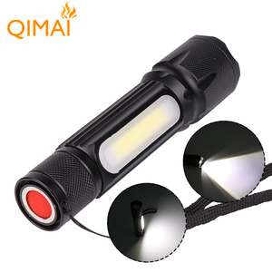 Hot Sale Aluminum Alloy High-Power USB Rechargeable LED Flashlight And Tail Magnet