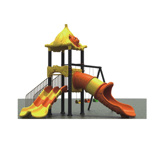 Selling high quality colorful gym outdoor plastic city slide playsets for kids HB2702
