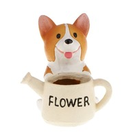 Colorful Garden Vase The Dog holding A Watering Can Ceramic Pot Succulent Plants vase Mini Flower Pot
