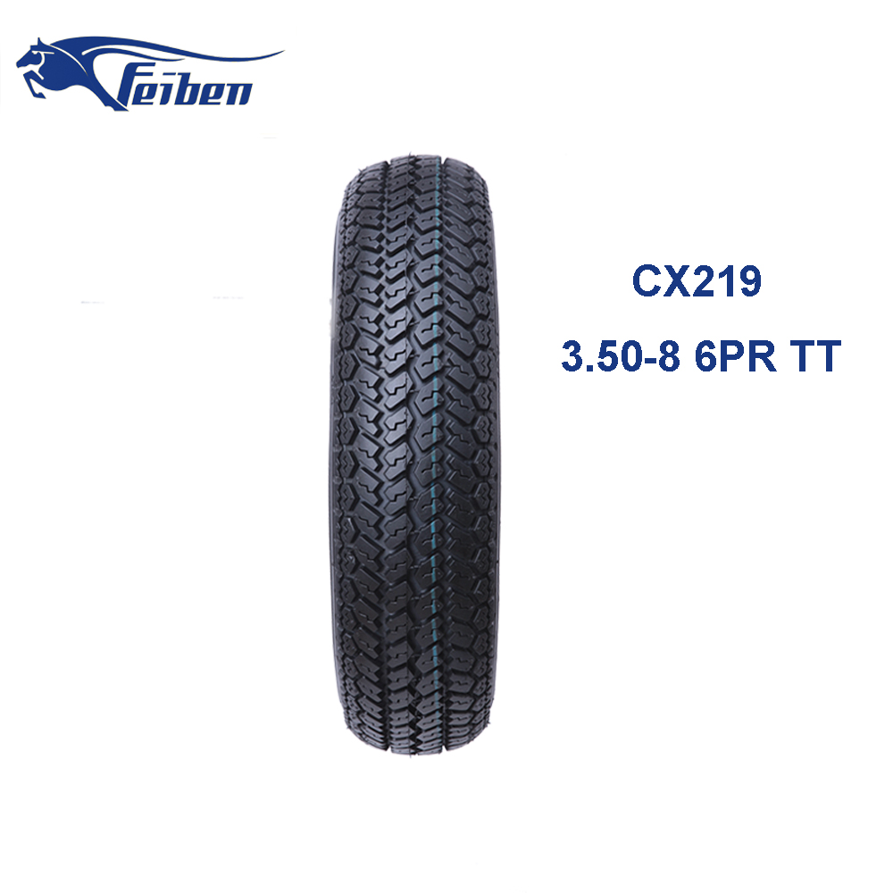FEIBEN BRAND TOP 10 TYRE BRANDS GOOD QUALITY INDUSTRIAL TYRES SCOOTER TIRE 3.50-8 CX219