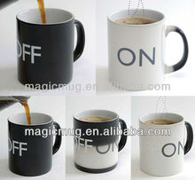 New Funky Color Changing ON/ OFF Switch High-Grade Porcelain Coffee Mug