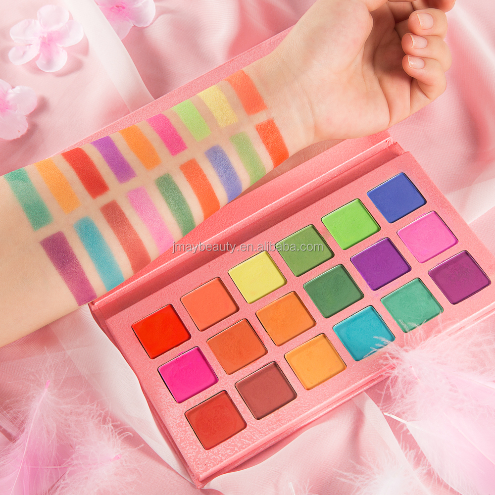 18 Colors Eyeshadow Design High Pigment Private Label Custom Logo Eyeshadow Palette