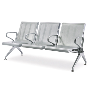 3 Seaters Passenger Waiting Airport Chair Polyurethane Airport Seating
