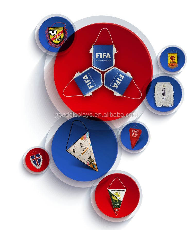 Custom outdoor -indoor Decorative Colorful Sports Football Soccer Team Pennants