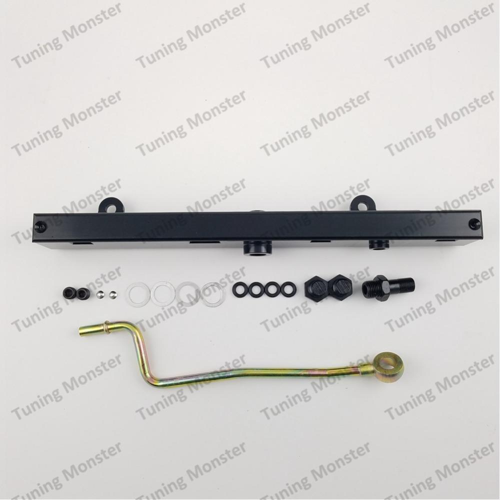Tuning Monster high Volume Fuel Rail Kit for Honda 02-06 for Acura for RSX  for Civic K20 K20A2 K20Z1 K20A3 K series black