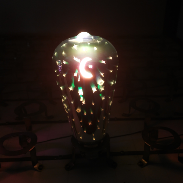 Creative 3d Starburst Night Light Fireworks Star Heart Led Table Lamp Color Changing Decorative Gift Lamp For Home Bedroom Street Price Led Night Lights