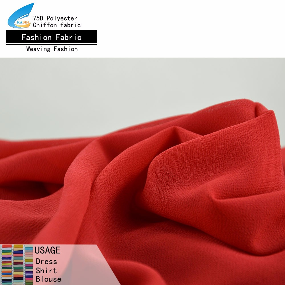 75D pearl chiffon <strong>fabric</strong> price per meter cheap georgette <strong>fabric</strong> for dress