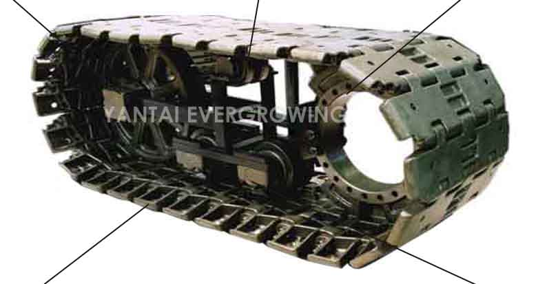Crawler Crane Undercarriage Spare Part Track Shoe Pad for FUWA QUY80