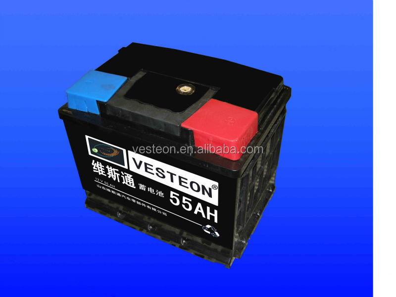 Professional manufacture high quality lead acid maintenance free car battery N 55 MF 12v 75 Ah