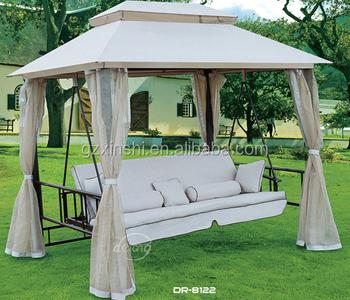 Great Heißer Verkauf Derong Gartenmöbel Schaukel Garten Terrasse Luxus Schaukel  Bett Billig Eisen Schaukel Mit Mosquitoo Net