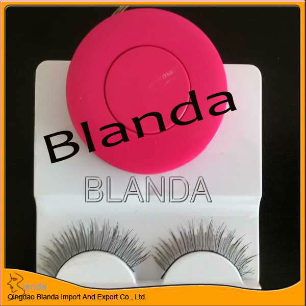 100% hand-made mink/human hair eyelashes , natural false eyelashes high quality