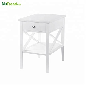 Fancy Modern White X Design Living Room Coffee Wooden Side Table, View  wooden side table, Nutrend Product Details from Fujian Nutrend Furniture  Co., ...