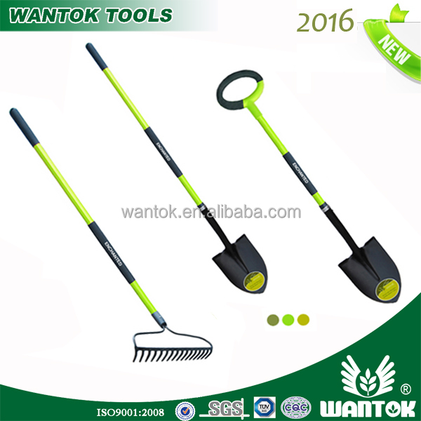 Folding Shovel ,Garden Welded Bow Rake With Fiberglass Plastic Handle