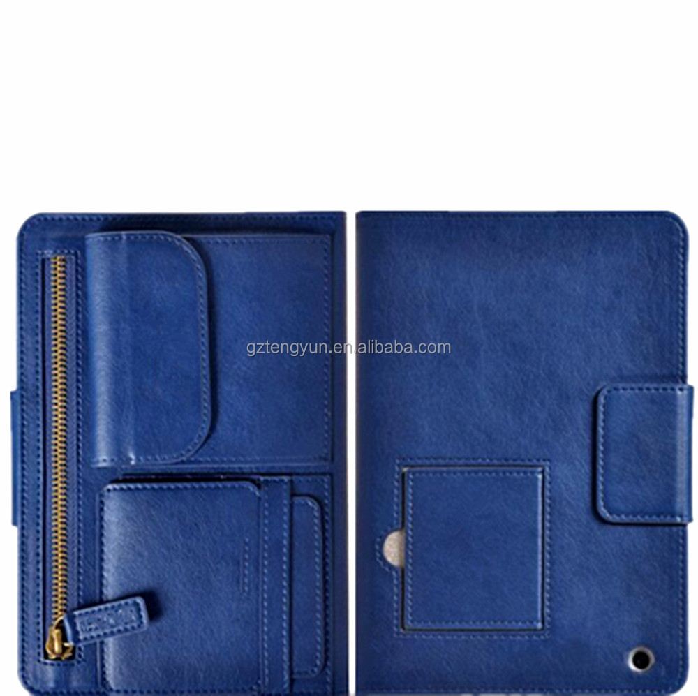 OEM/ODM Manufacture flip leather zipper case for ipad air 2