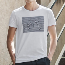 New design cheap custom white cotton om printed t shirts for man in china