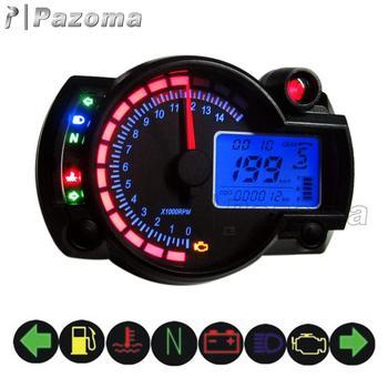 Universal Adjustable Lcd Digital Motorcycle Tachometer