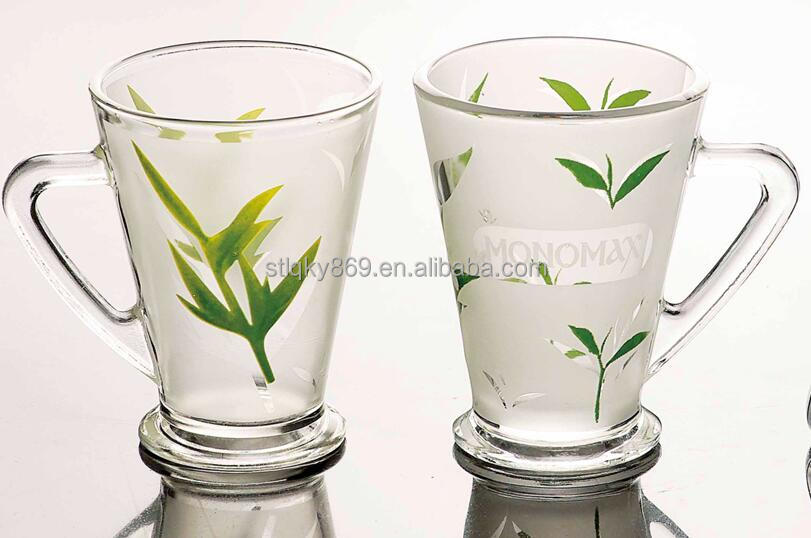 LYM015 bubble tea cup wholesale price spray color 8oz Artful cheap colored wine glasses with handle