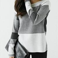 Latest Stripes Designs Basic Cheap Bulk Long Sleeve Plain T Shirts For Women