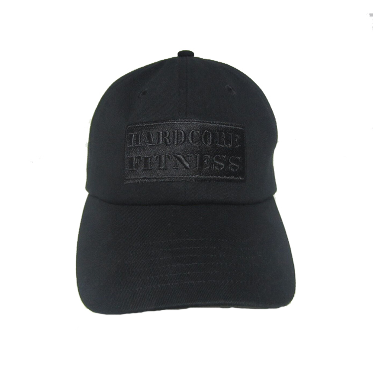 46481aef6cd Top Level Plain Dad Cap Black Dad Hats With Black Embroidery - Buy ...