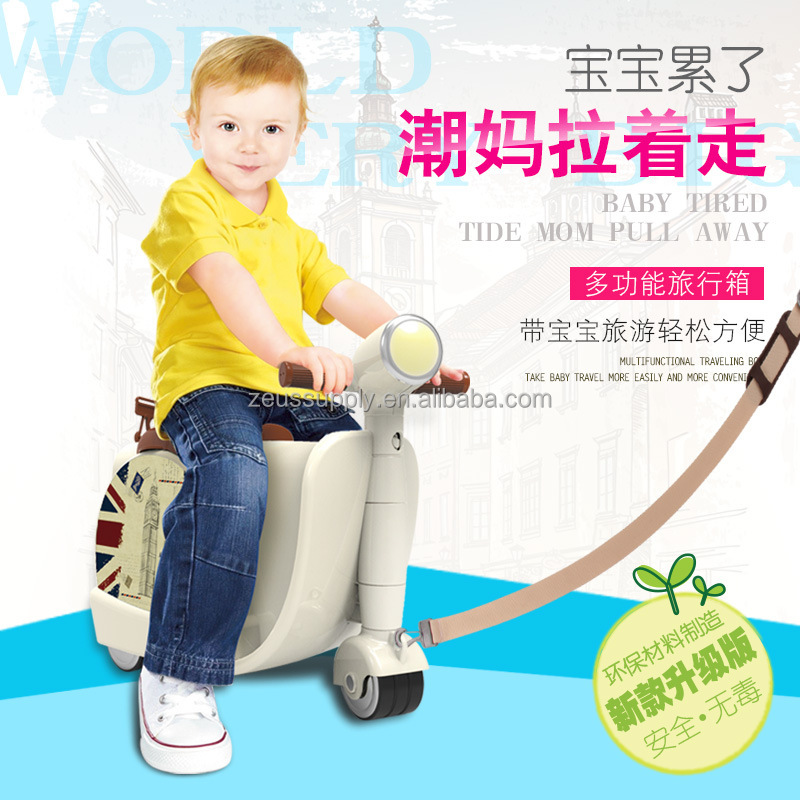 Hot selling cheap trolley school bag pc luggage bag kids scooter bag 822-217