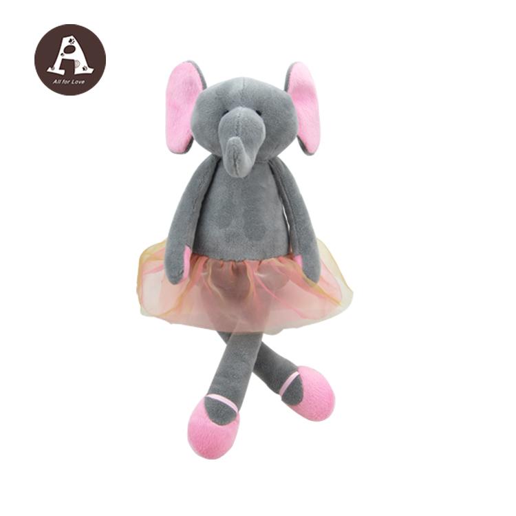 Wholesale Plush Elephant Christmas Stuffed Toys With Ballerina Dress