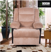 Dickson brown broad seat design gorgeous and noble leather sofa